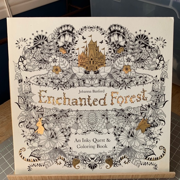 Superb Enchanted Forest Adult Coloring Book